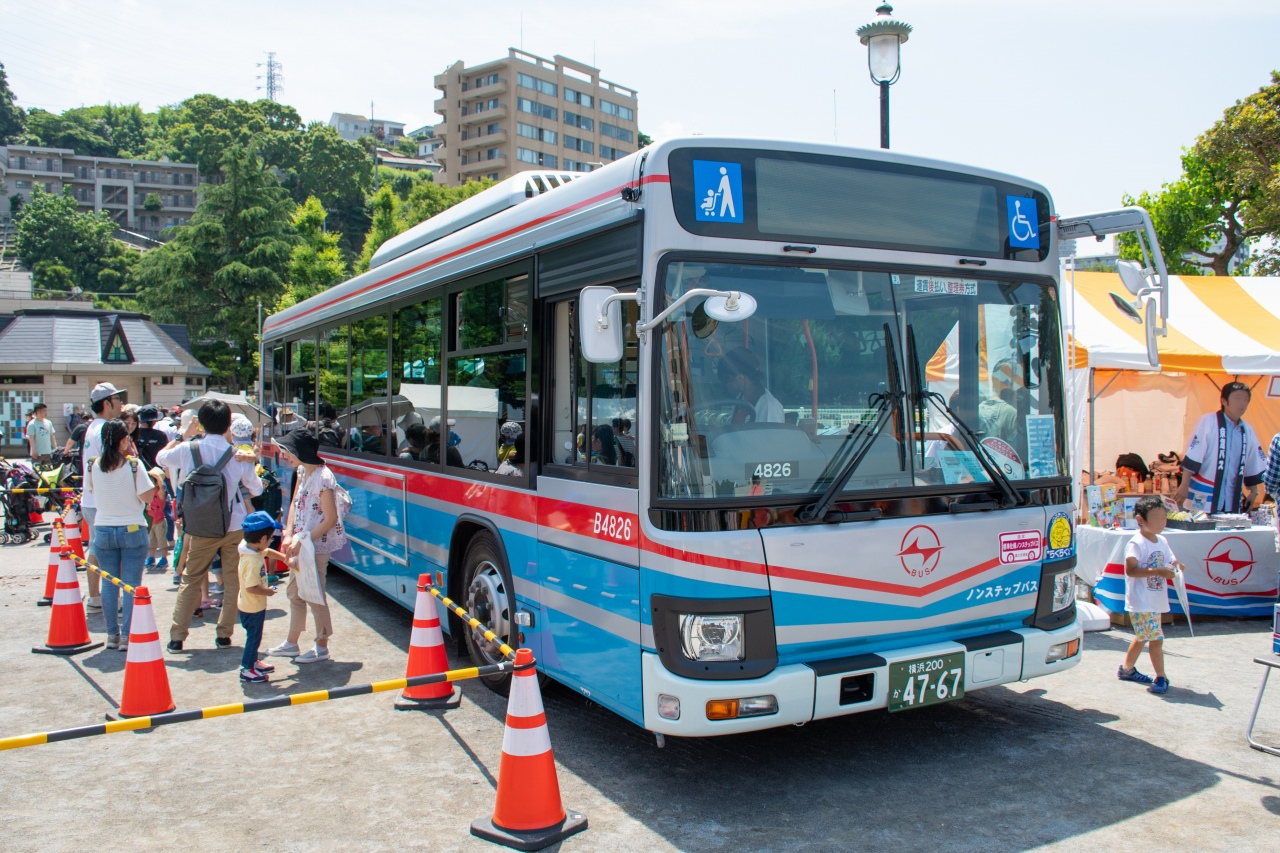 京浜急行バスのB4826号車。2018年3月に横須賀営業所に配属されたばかりの新顔だ。