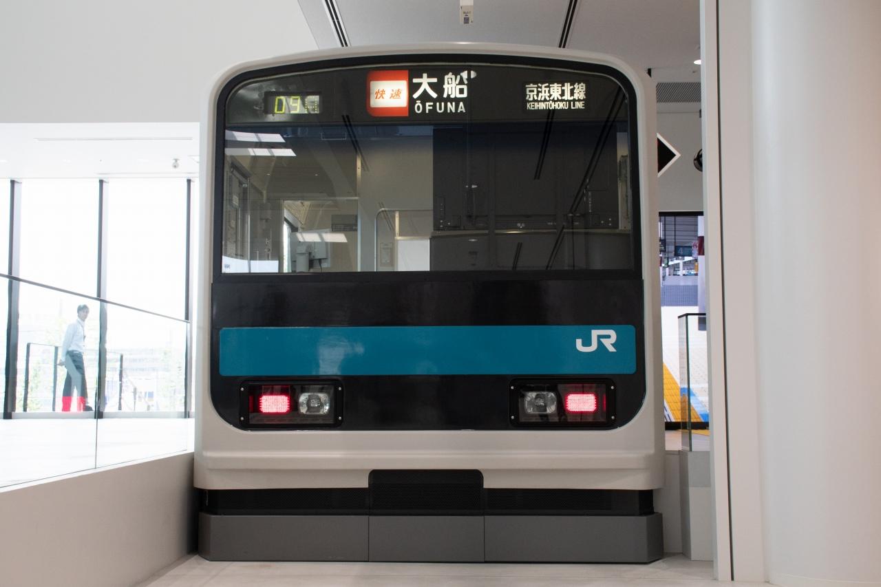 209系のモックアップを使用した車掌シミュレータ。リニューアル前やかつての交通博物館では、運転シミュレータとして使用された躯体です