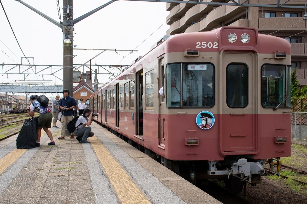 一往復の運転を終え、銚子駅で小休止