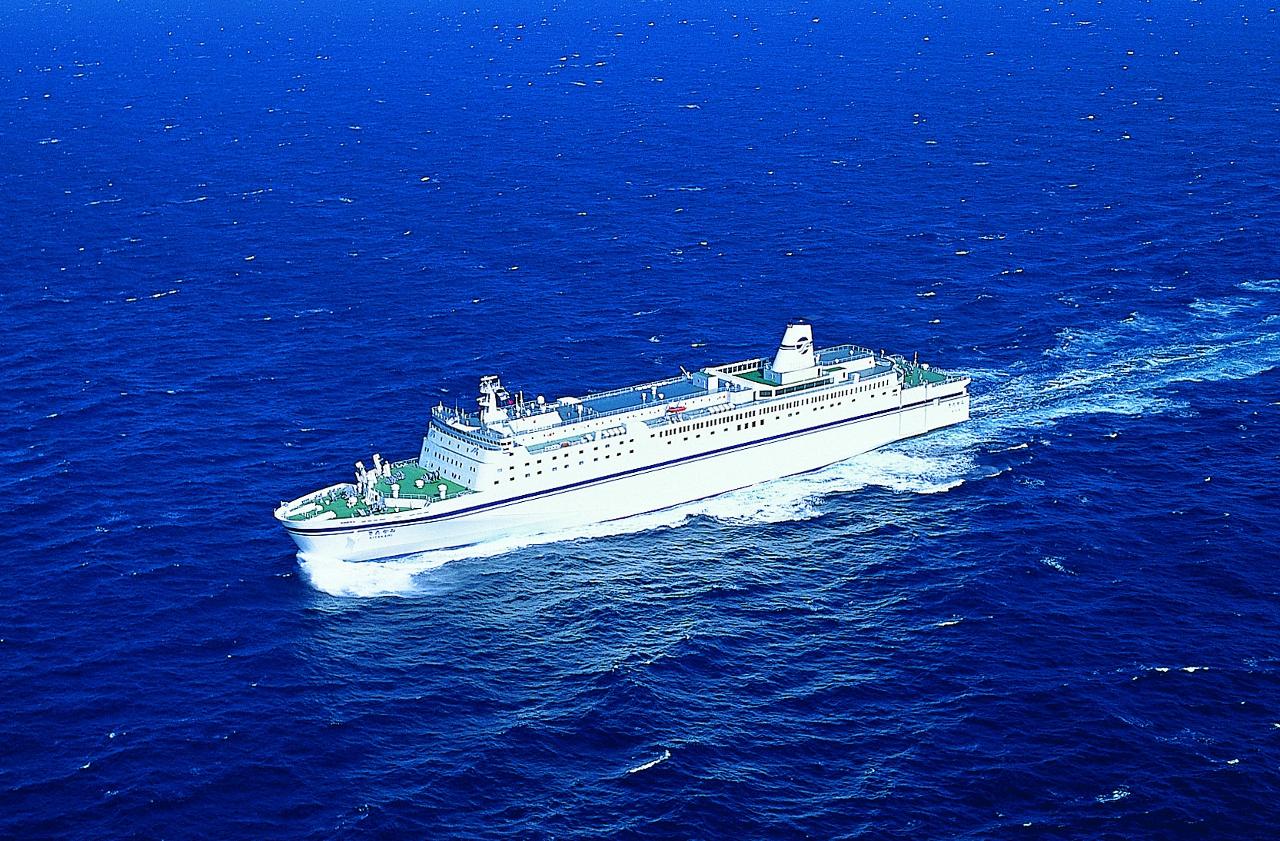 苫小牧~仙台間で就航する「きたかみ」(提供:太平洋フェリー)