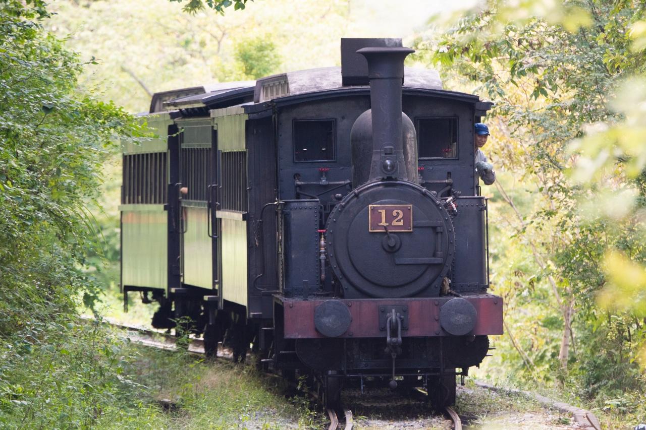 明治村を走る蒸気機関車