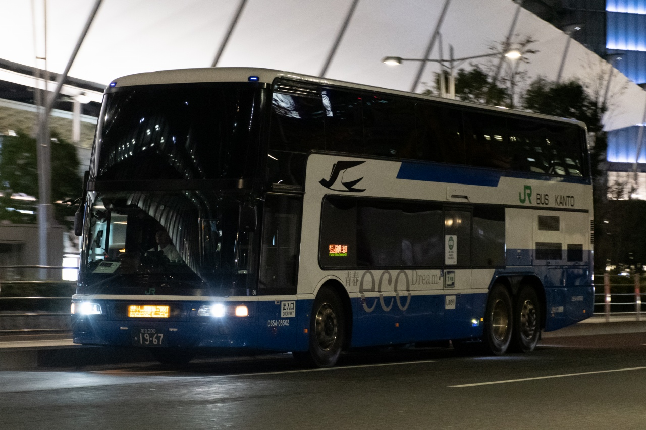 JRバス関東などが運行する、東京~大阪間の「青春エコドリーム」