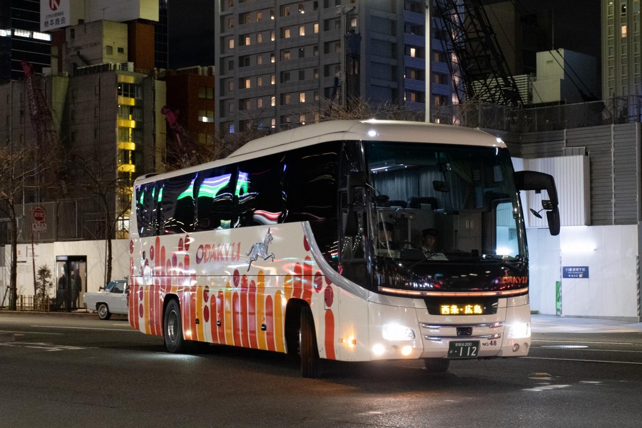小田急バスが運行する、東京と広島を結ぶ「ニュー・ブリーズ」号