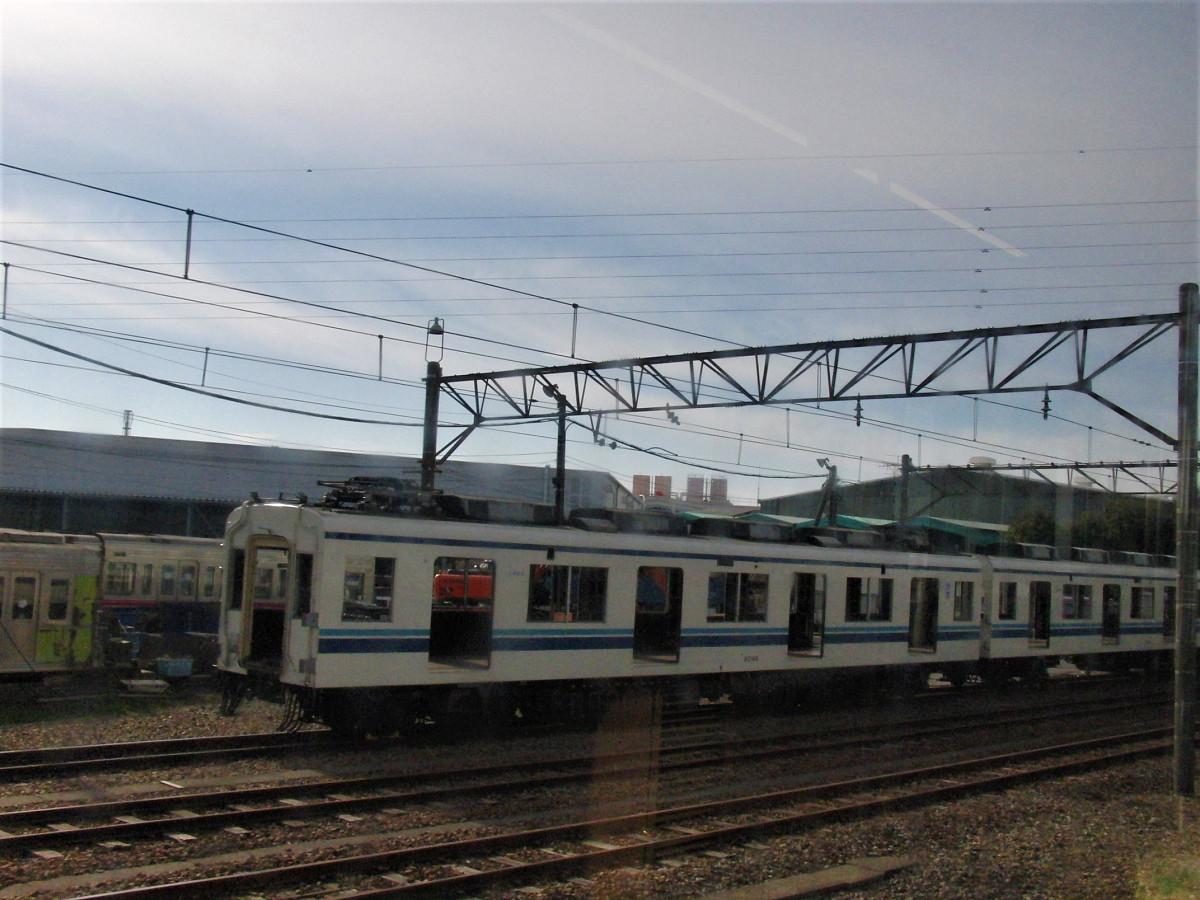 東武鉄道資材管理センター北館林解体所の様子。8000系などが留置されていました。