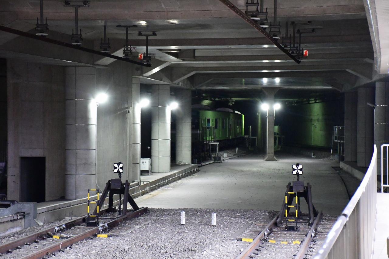 JR難波駅は、なにわ筋線の建設を見越した設計。すでになにわ筋方面へと延びるトンネルが構築されています