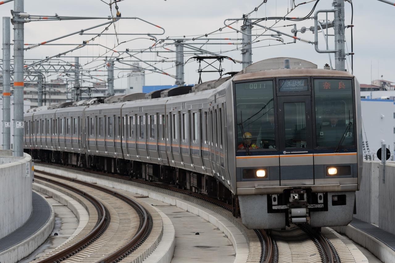 おおさか東線経由で運転される、新大阪駅発奈良駅行きの直通快速
