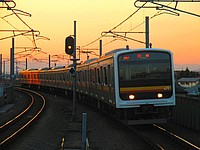 train, sky, track, outdoor, road, way, railroad, highway, traveling