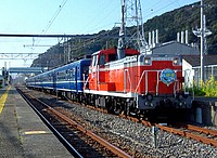 sky, train, track, outdoor, transport, railroad, traveling, pulling