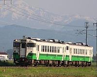 grass, outdoor, sky, transport, train, mountain, green