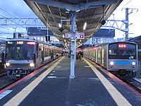 train, platform, station, track, outdoor, pulling