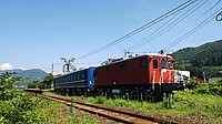 sky, train, grass, outdoor, track, transport, traveling, red, railroad, pulling, engine