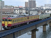 outdoor, building, train, bridge, city, track, river, traveling, long