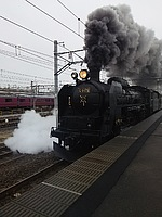 train, track, sky, outdoor, steam, coming, engine, transport, smoke, traveling, railroad, pulling, moving, stack