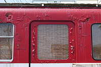 outdoor, bus, train, red, transport, track, traveling, engine, old, railroad, stopped