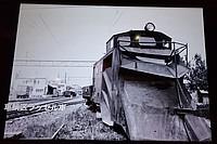 winter, car, black and white, abandoned, snow, track, railroad, monochrome