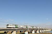 sky, outdoor, building, train, railroad, bridge, travel
