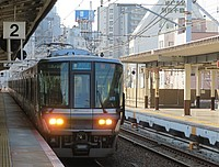 train, building, track, outdoor, platform, station, transport, pulling, traveling, railroad, tram, rail, streetcar, transit