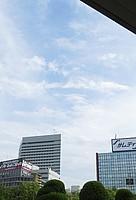 sky, outdoor, cloud, skyscraper, building, billboard