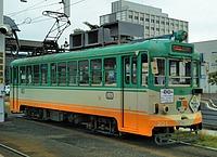 transport, sky, outdoor, train, land vehicle, vehicle, street, tram, green, streetcar
