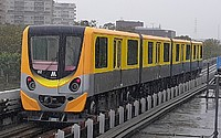 train, track, outdoor, sky, transport, land vehicle, vehicle, rail, traveling, station, railroad, rolling stock, long, pulling