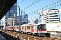 train, track, sky, transport, outdoor, rail, land vehicle, vehicle, station, pulling, traveling, long, railroad, engine
