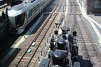 track, outdoor, rail, vehicle, land vehicle, train, transport, station, locomotive, traveling, railroad