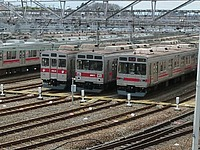 train, track, outdoor, railroad, rail, station, land vehicle, transport, vehicle