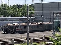 sky, train, outdoor, track, rail, vehicle, land vehicle, station, locomotive, railroad, traveling, day