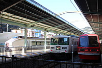 building, train, land vehicle, vehicle, outdoor, parked, public transport, station, transport, rolling stock, car
