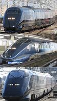 train, track, outdoor, transport, vehicle, rail, land vehicle, station, locomotive, platform, passenger, railway, long, pulling, traveling, silver, railroad