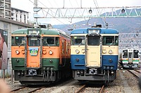 outdoor, ground, railroad, track, rail, land vehicle, transport, vehicle, train, locomotive, station, rolling stock, blue, several