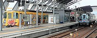 track, station, text, rail, train station, metro station, train, traveling, railroad, several