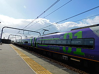 sky, outdoor, transport, railroad, train, rail, land vehicle, station, vehicle, platform