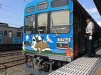 sky, train, outdoor, transport, track, land vehicle, vehicle