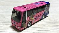 bus, land vehicle, vehicle, pink