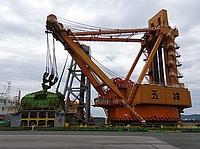 sky, outdoor, road, bridge, transport, construction, crane, distance