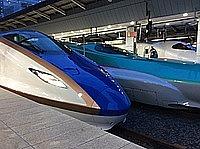 train, vehicle, land vehicle, bullet train, blue, high-speed rail