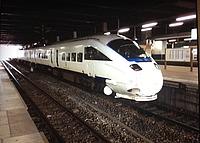 train, track, transport, land vehicle, vehicle, railroad, station, platform, rail, ceiling, pulling, railway, rolling stock, traveling