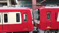 red, transport, train, land vehicle, vehicle, engine, traveling
