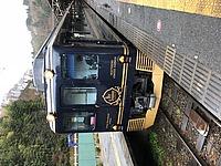 outdoor, train, railroad, text, land vehicle, vehicle