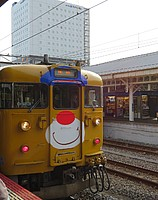train, track, sky, transport, outdoor, land vehicle, vehicle, rail, yellow, station, public transport, traveling, railroad