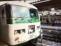 train, track, land vehicle, vehicle, railroad, transport, green, public transport