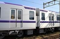 train, transport, track, sky, outdoor, land vehicle, vehicle, rail, rolling stock, station, white, blue, wheel, passenger car, public transport, traveling, railroad, silver