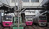 building, outdoor, train, text, railroad, rail, station, transport