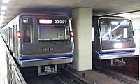 train, ceiling, indoor, platform, station, land vehicle, vehicle, public transport, subway, metro station, train station, passenger car, steel
