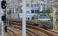 train, track, building, rail, outdoor, station, land vehicle, locomotive, vehicle, light, railroad, traveling, dock