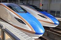 vehicle, land vehicle, train, bullet train, blue, car