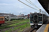 grass, sky, track, outdoor, train, transport, vehicle, land vehicle, railroad, traveling, engine
