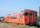 sky, outdoor, transport, orange, train, track, vehicle, land vehicle, railroad, traveling