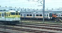 train, track, sky, transport, rail, outdoor, station, land vehicle, vehicle, locomotive, passenger, traveling, railroad, several